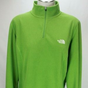 The North Face  Green Zip Pullover Fleece Jacket